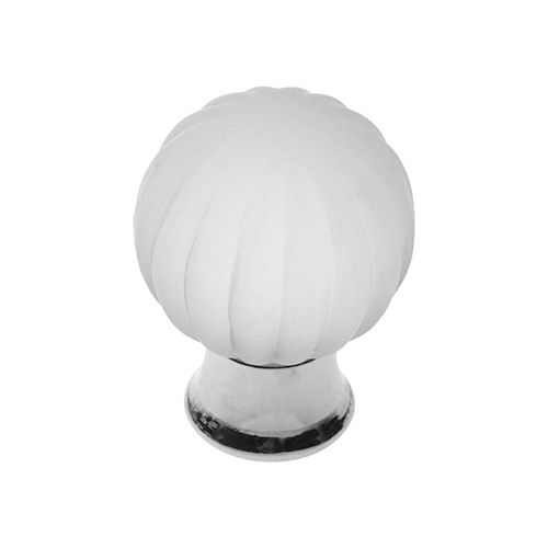 P405 Vanity Unit Knob in Frosted Glass