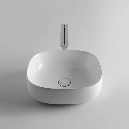 Seed 45.40 Vessel Bathroom sink in Glossy White