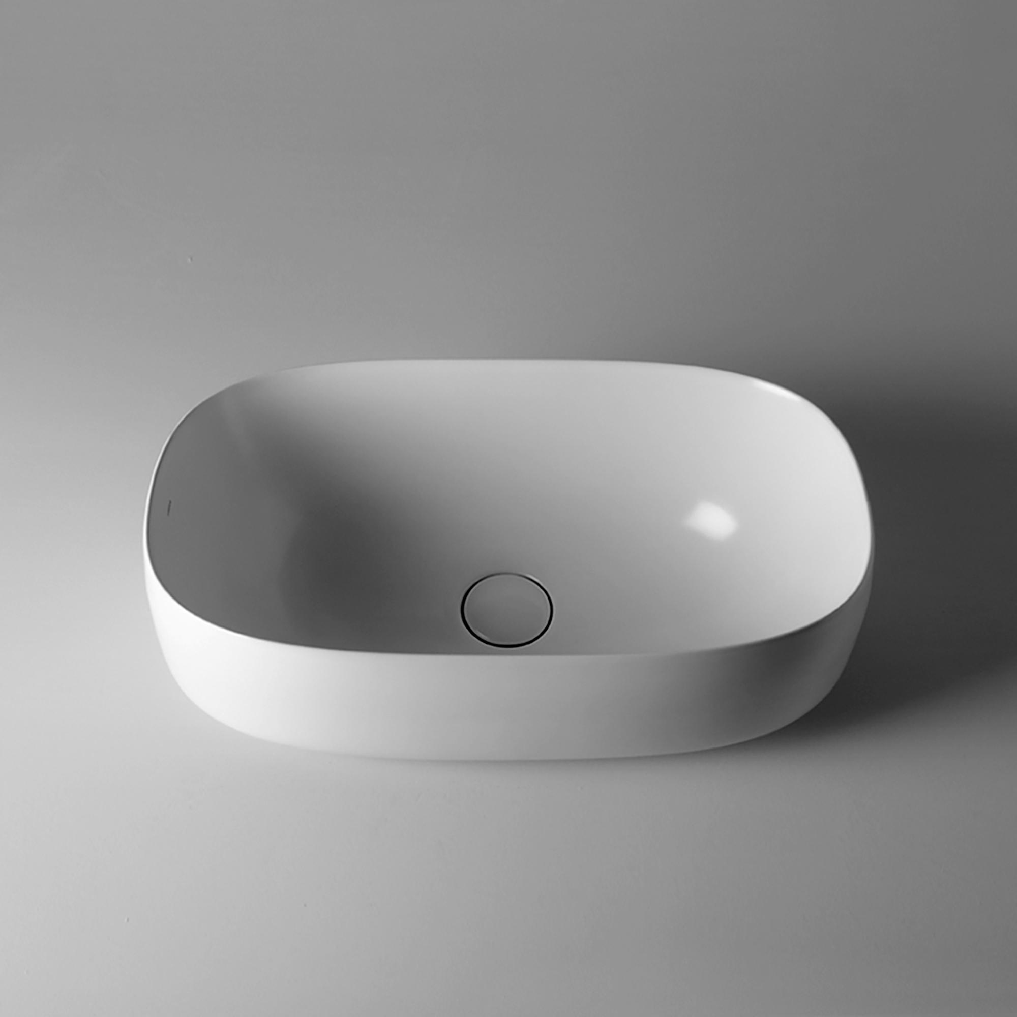 Seed 55.30 - SEL06 Bathroom Sink in Glossy White
