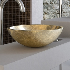 Circus 50 FO vessel sink in gold leaf