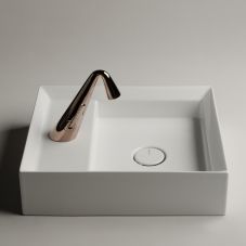 Cut 45.38 - CTL01 Bathroom Sink in Glossy White