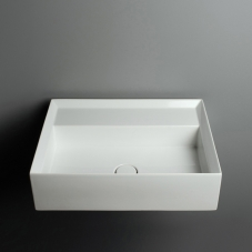 Cut 60.45 (CTL04) Glossy White Bathroom Sink Without Faucet Hole