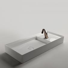 Cut 90.38F - CTL030 Bathroom Sink in Glossy White
