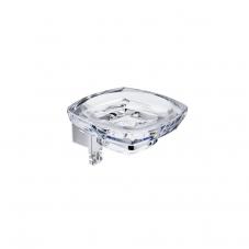 Damasc DM 3201 Polished Chrome Single Holder with Clear Acrylic Soap Dish