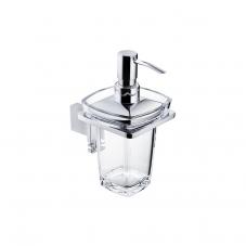 Damasc DM 3201D Polished Chrome Single Holder with Clear Acrylic Soap Dispenser