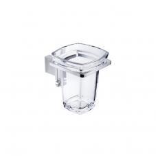 Damasc DM 3202 Polished Chrome Single Holder with Clear Acrylic Tumbler