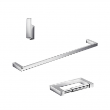 Divo Bathroom Accessory Set in Polished Chrome