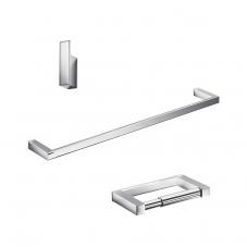 Divo Bathroom Accessory Set in Polished Chrome