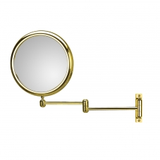 Doppiolo 40/2 Wall Mount 3X Magnifying Mirror in Gold
