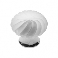 P337 Vanity Unit Knob in Frosted Glass