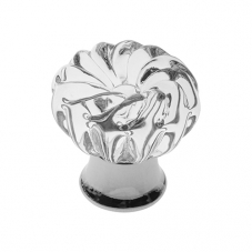P341 Vanity Unit Knob in Clear Glass