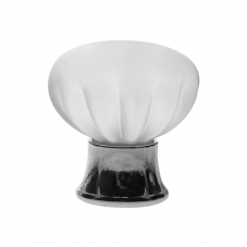 P342 Vanity Unit Knob in Frosted Glass