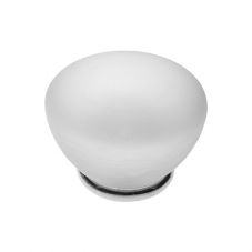 P351 Vanity Unit Knob in Frosted Glass