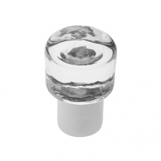 P367 Vanity Unit Knob in Clear Glass