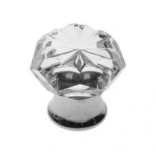 P901 Vanity Unit Knob in Clear Glass