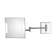 Quadrolo 2-Arm Cable & Plug LED Magnifying Mirror 3x