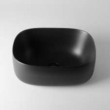 Seed 55.40 Vessel Bathroom Sink in Matte Black
